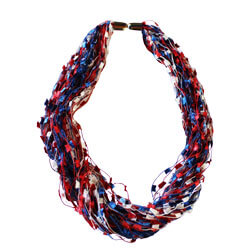 Confetti Necklace Red, GANER58299RED