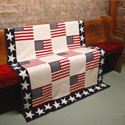 USA Flag Patchwork Blanket, GBCPATCH
