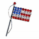American Flag on Pole Brooch