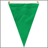 Single Pennants with Greens