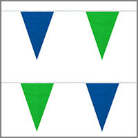 String Pennant Flags with Greens