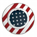 Stars and Stripes Dinner Plate
