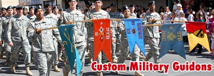 Custom Military Guidons