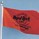 Simple logo flag for the Hard Rock Cafe