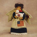 Americana Angel Figurine with Sheep, HHL28675S