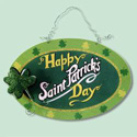 St. Pat's Day Wood Hanging Sign