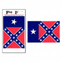 Texas Confederate Flag Decal, III0468
