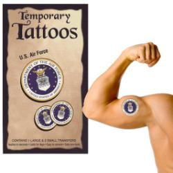 air force temporary tattoos. Black Bedroom Furniture Sets. Home Design Ideas