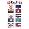 Assorted State Flag Stickers, III2401