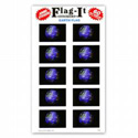 Earth Flag Stickers, III2780