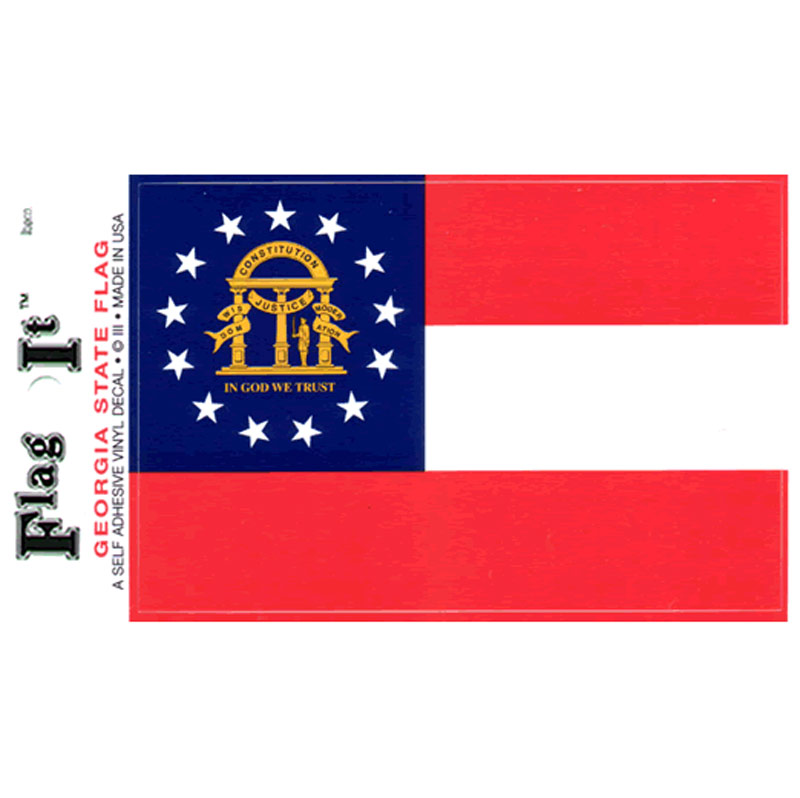 Georgia flag decal iii435 for Proper placement of american flag