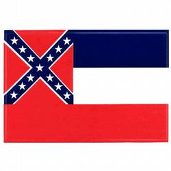 Mississippi Flag Decal, III449