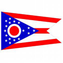 Ohio Flag Decal, III460