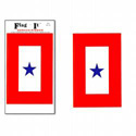 Service Star Banner Decal, III724