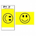 Smiley Face Flag Decal, III795