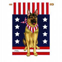 German Shepherd Patriotic Banner