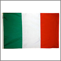 Italian Flag and Banners