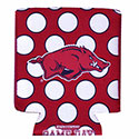 Arkansas Razorbacks Polka Dot Pocket Can Cooler, J36019