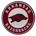 Arkansas Razorbacks Bullseye Flocked Decal, J41167