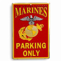 Marines Parking Only Sign