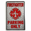 Fire Fighter Parking Only Sign, JAGPS94