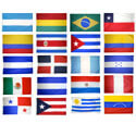 20 Latin American Countries Complete Flag Set, K20LAT35