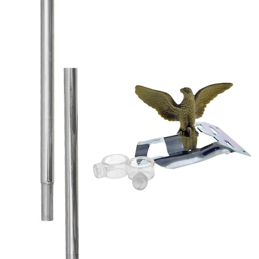 Airforce Wings Flag w// 6/' Ft Aluminum Flagpole Flag Pole kit Eagle 3x5 U.S