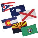 50 States Indoor Flag Set with Pole Hem