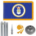 Chrome Air Force Flag Kit