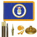 Oak And Brass Air Force Flag Kit