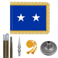 Oak And Chrome Air Force Major General Flag Kit, FBPP0000009433