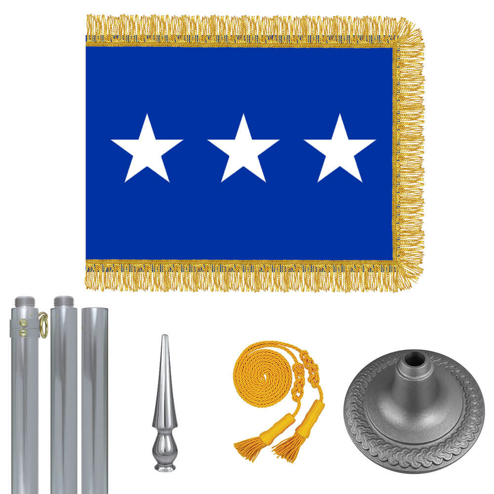 Chrome Air Force Lt. General Flag Kit, FBPP0000009425