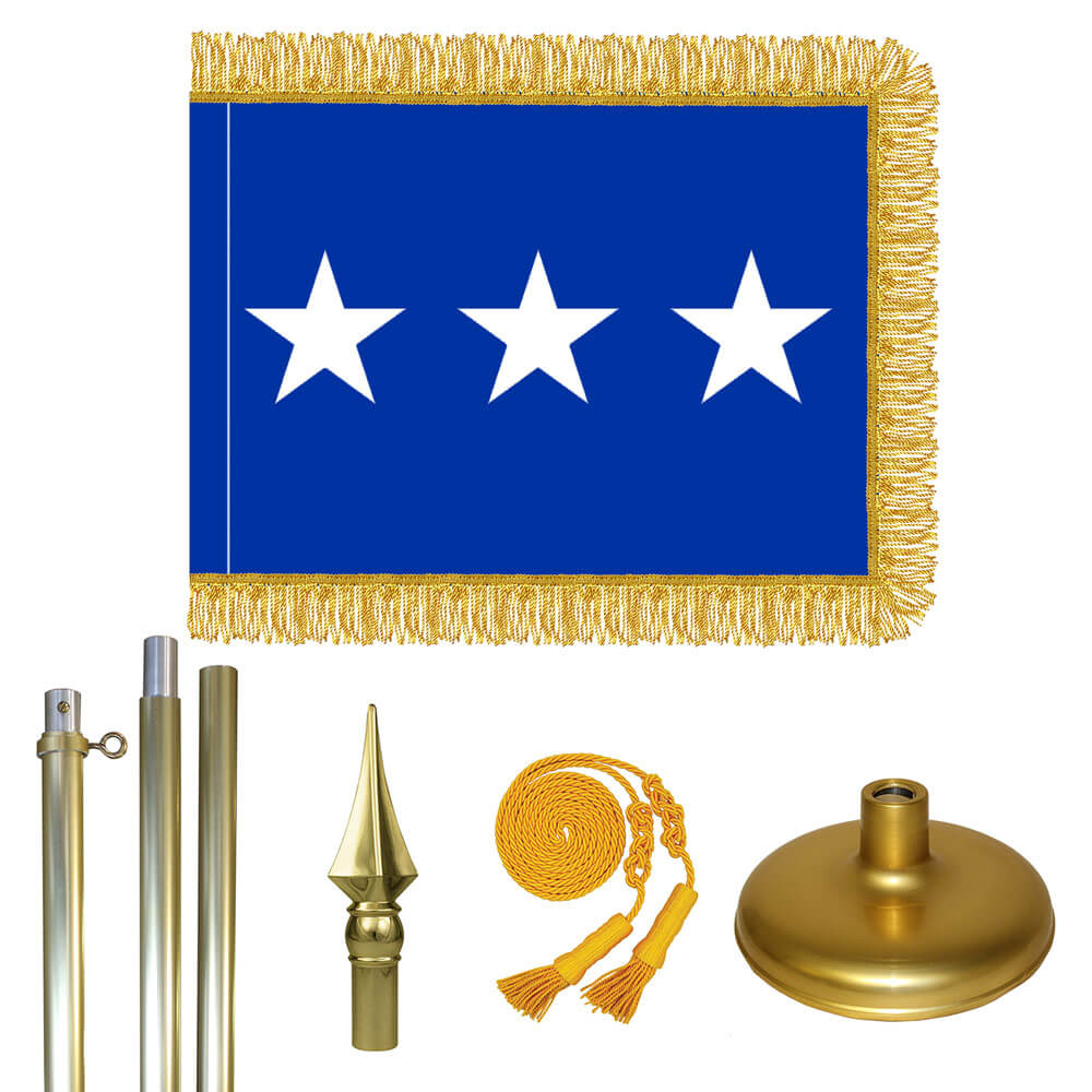 Brass Air Force Lt. General Flag Kit, FBPP0000009424