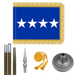 Air Force General Flag Kit - Oak And Chrome, FBPP0000009420