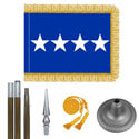 Air Force General Flag Kit - Oak And Chrome