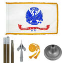 Oak And Chrome Army Flag Kit