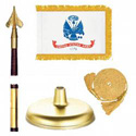 Oak And Brass Army Flag Kit