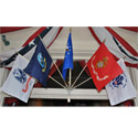 Armed Forces Miniature Wall-Mount Flag Kit, KAARME1218WM