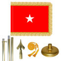 Brass Army Brigadier General Flag Kit