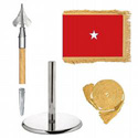 Oak And Chrome Guidon Army Brigadier General Flag Kit