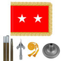 Oak And Chrome Army Major General Flag Kit