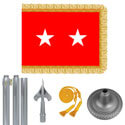 Chrome Army Major General Flag Kit
