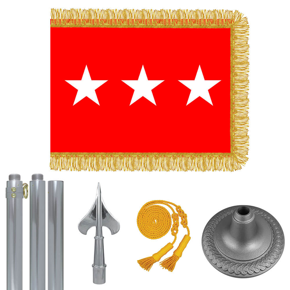 Chrome Army Lt. General Flag Kit, FBPP0000009596