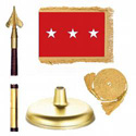 Oak And Brass Army Lt. General Flag Kit