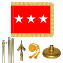Brass Army Lt. General Flag Kit