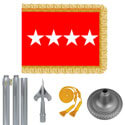 Chrome Army General Flag Kit
