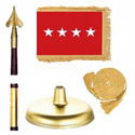 Oak And Brass Army General Flag Kit