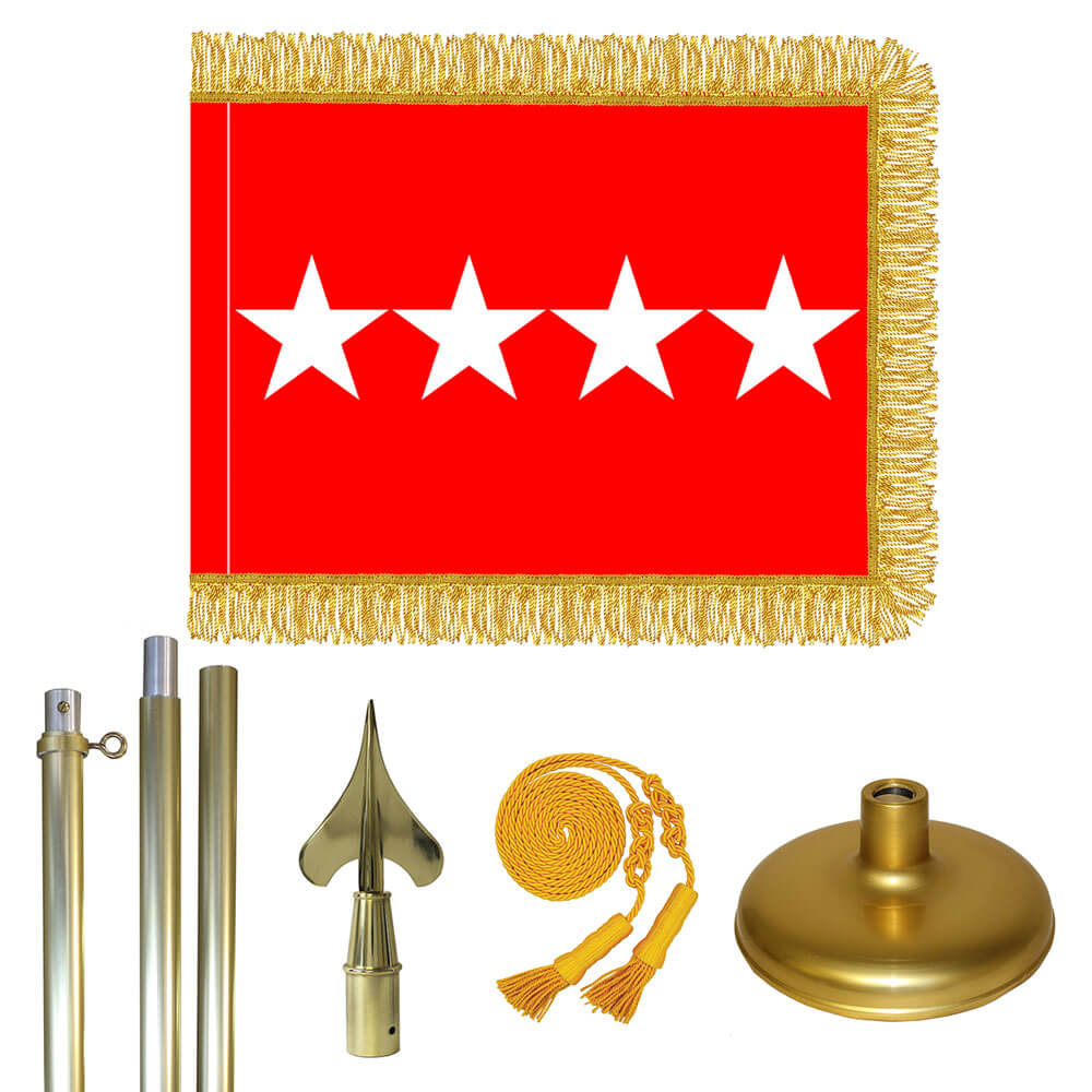 Brass Army General Flag Kit, FBPP0000009585