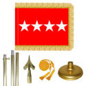 Brass Army General Flag Kit