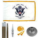 Oak And Chrome Coast Guard Flag Kit